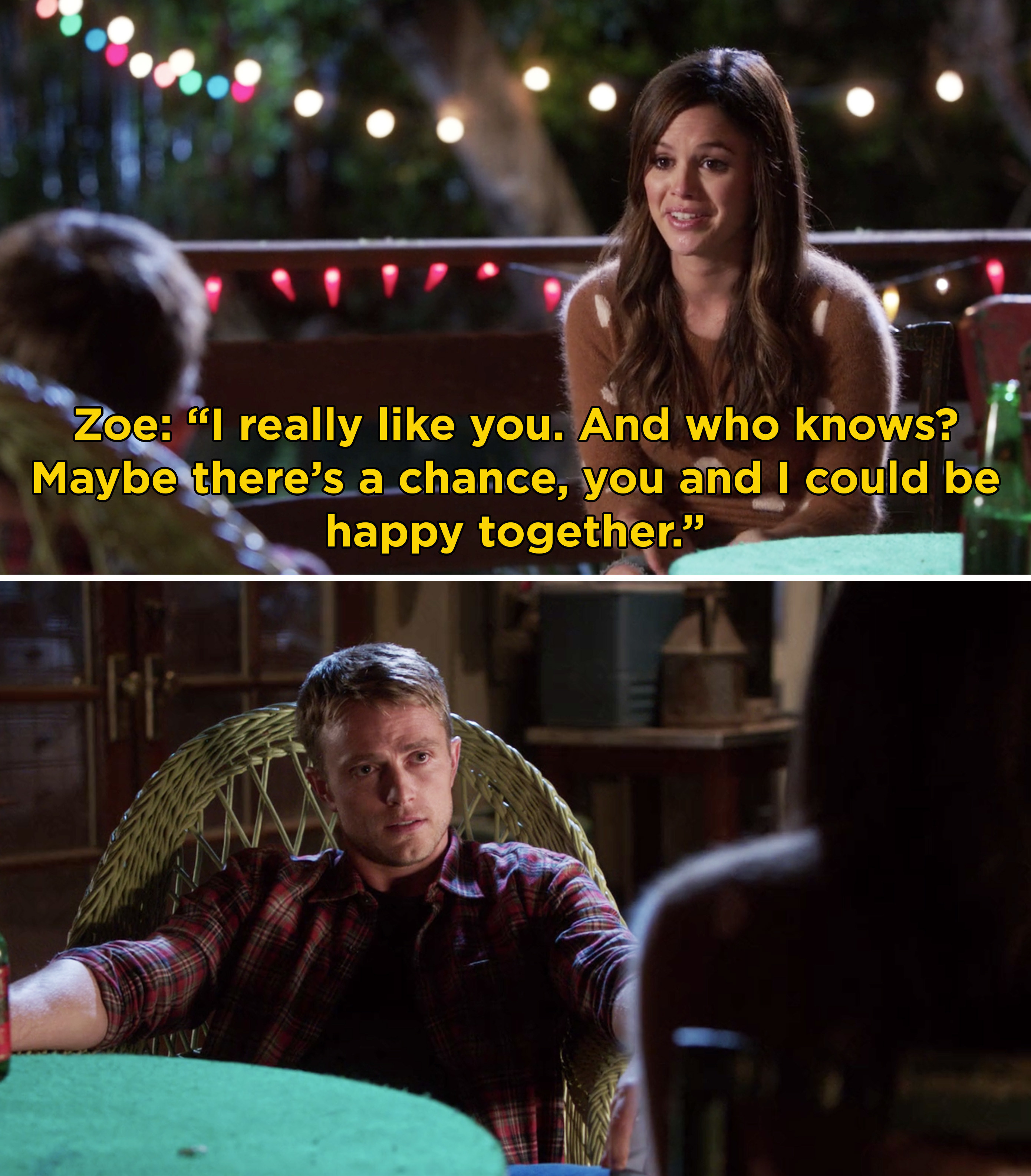 Zoe confessing her feelings for Wade and saying that she really likes him
