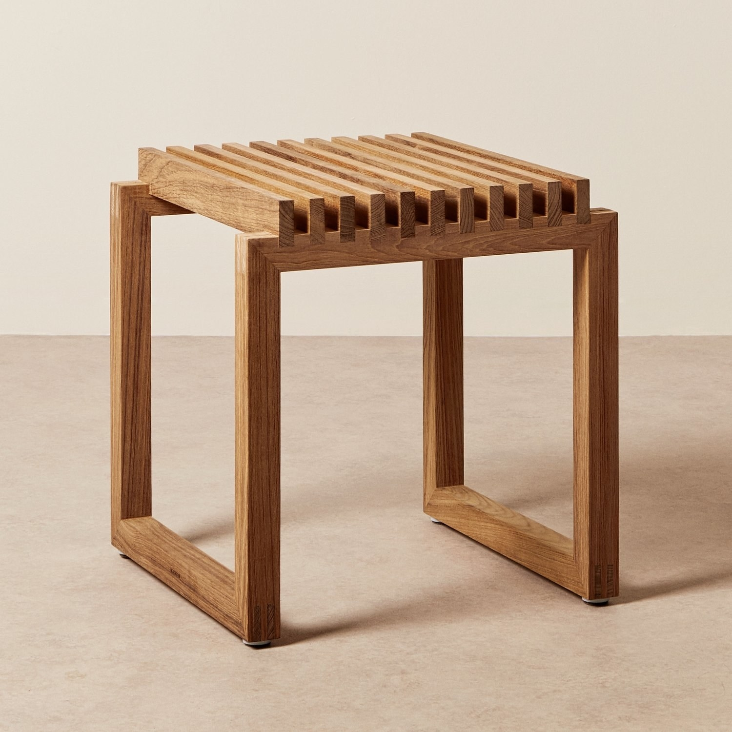 The wooden stool