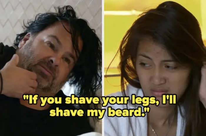 "Big Ed from telling Rose ""If you shave your legs, I'll shave my beard,"" on ""90 Day Fiancé."""