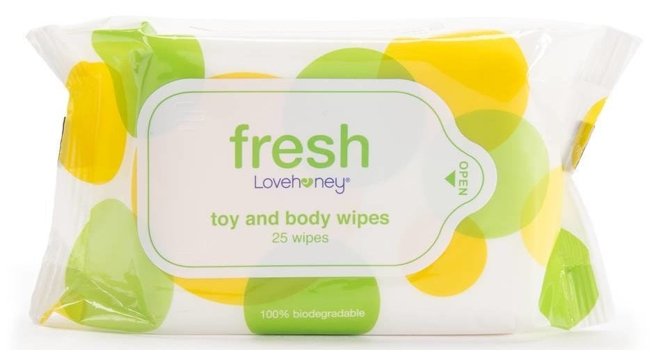 Pack of Lovehoney Fresh Biodegradable Sex Toy & Body Wipes