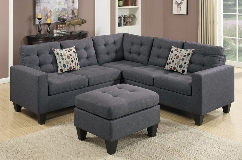 the sectional in gray