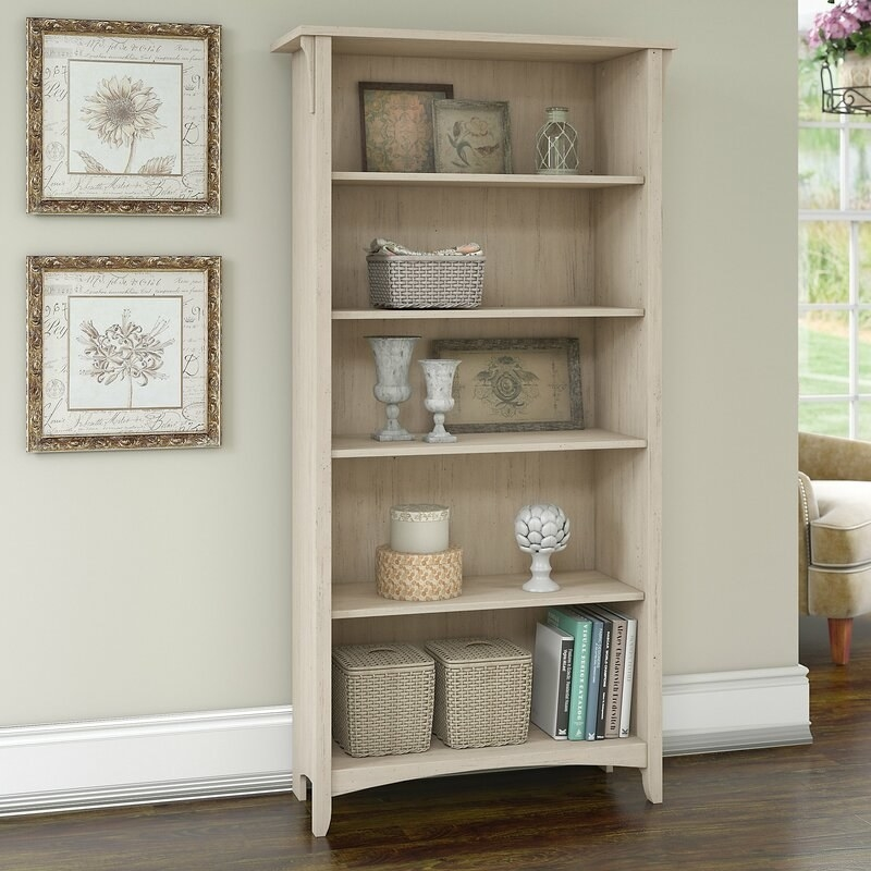 the bookcase in antique white