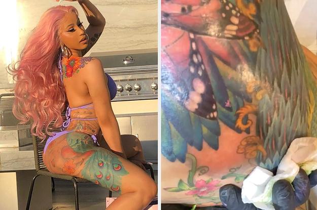 Cardi B Posts Videos Getting New Tattoo On Instagram