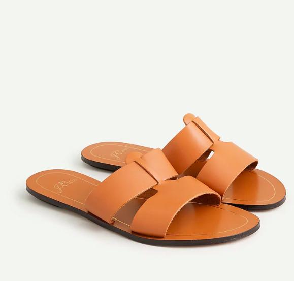 J.Crew cyprus sandals in roasted pecan