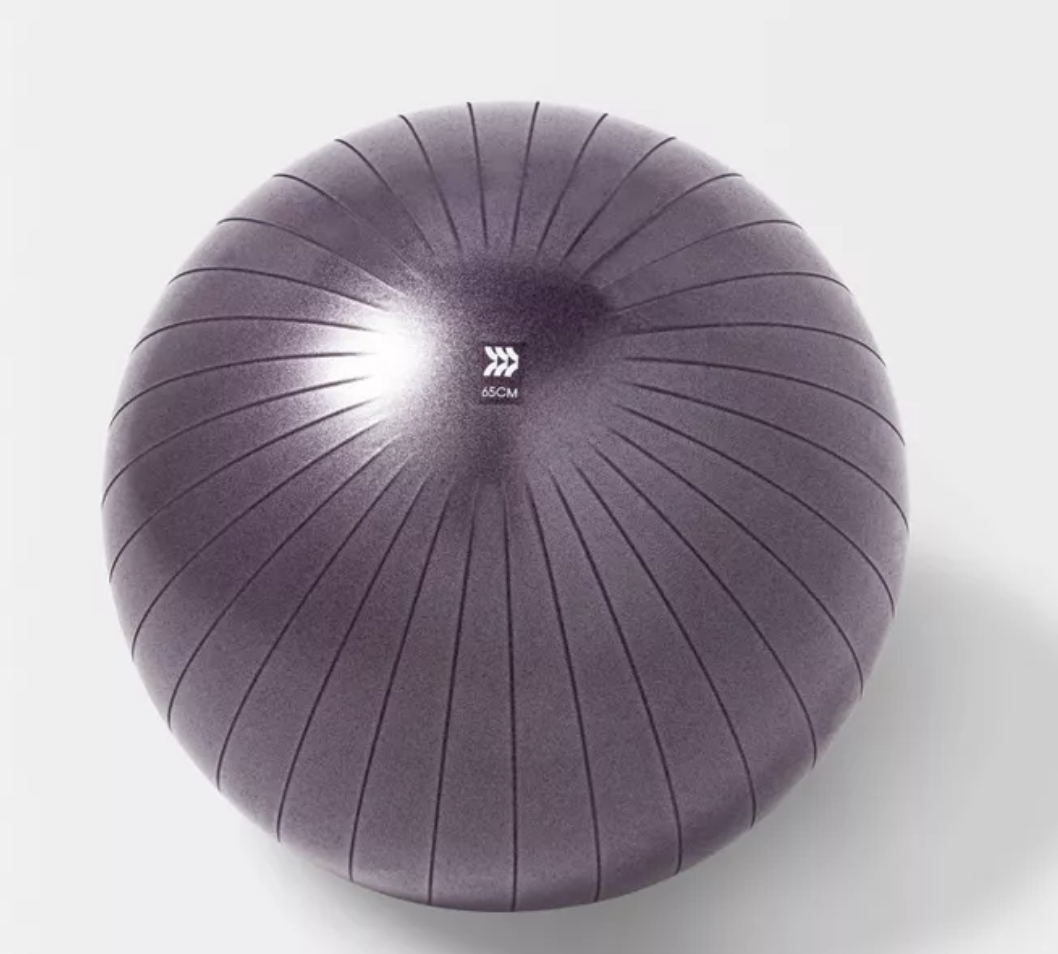 A purple stability ball