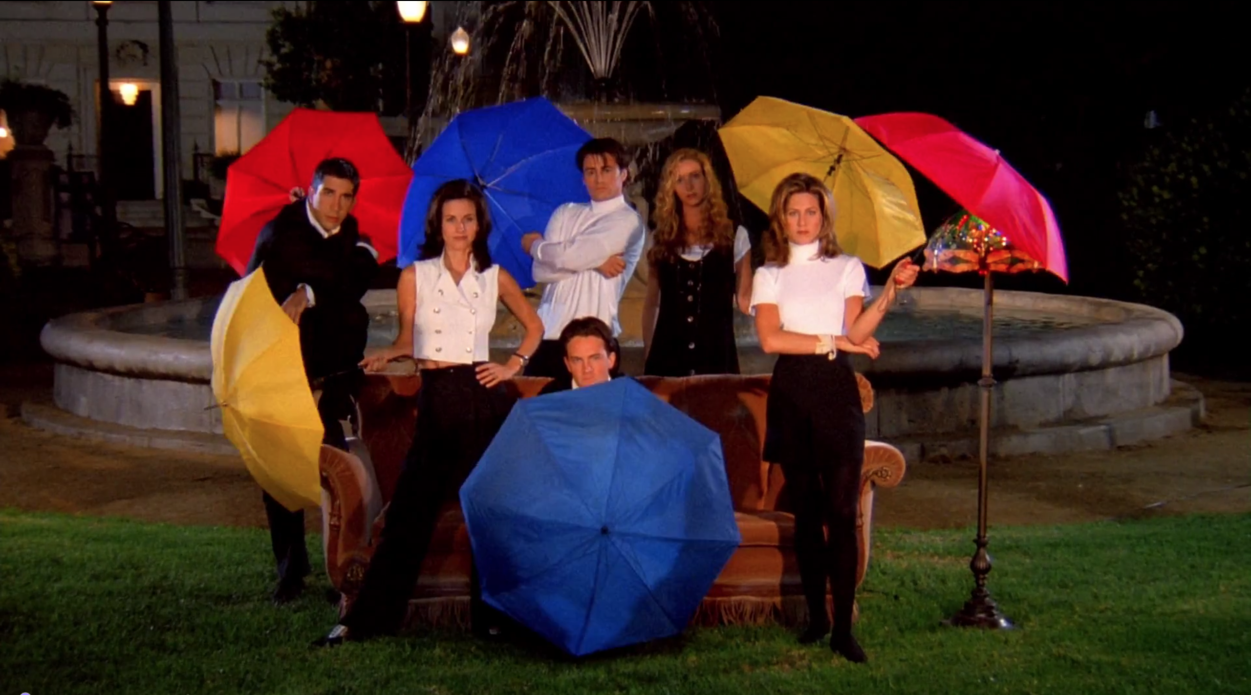 Screenshot of the Friends opening credits