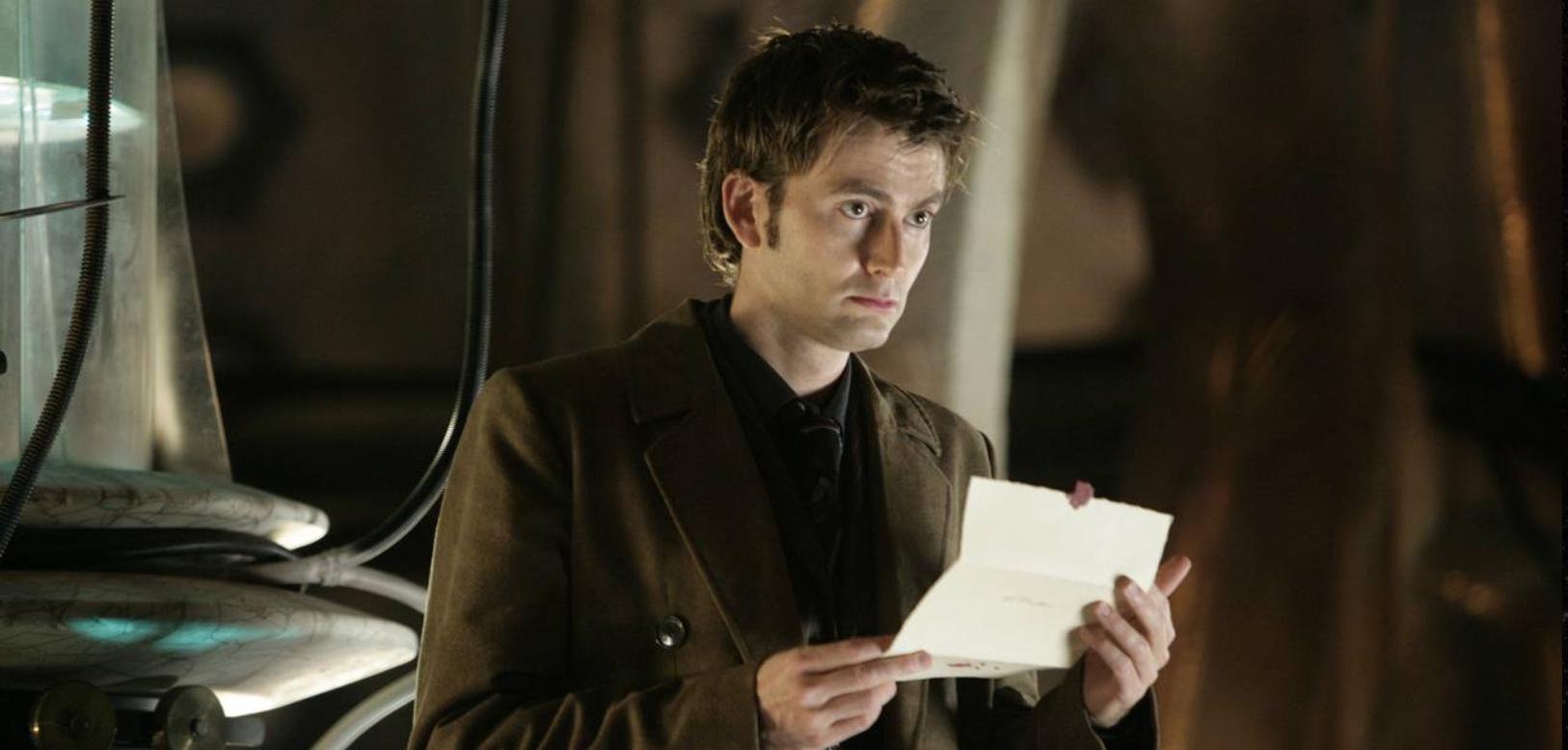 Screenshot of David Tennant as the Doctor