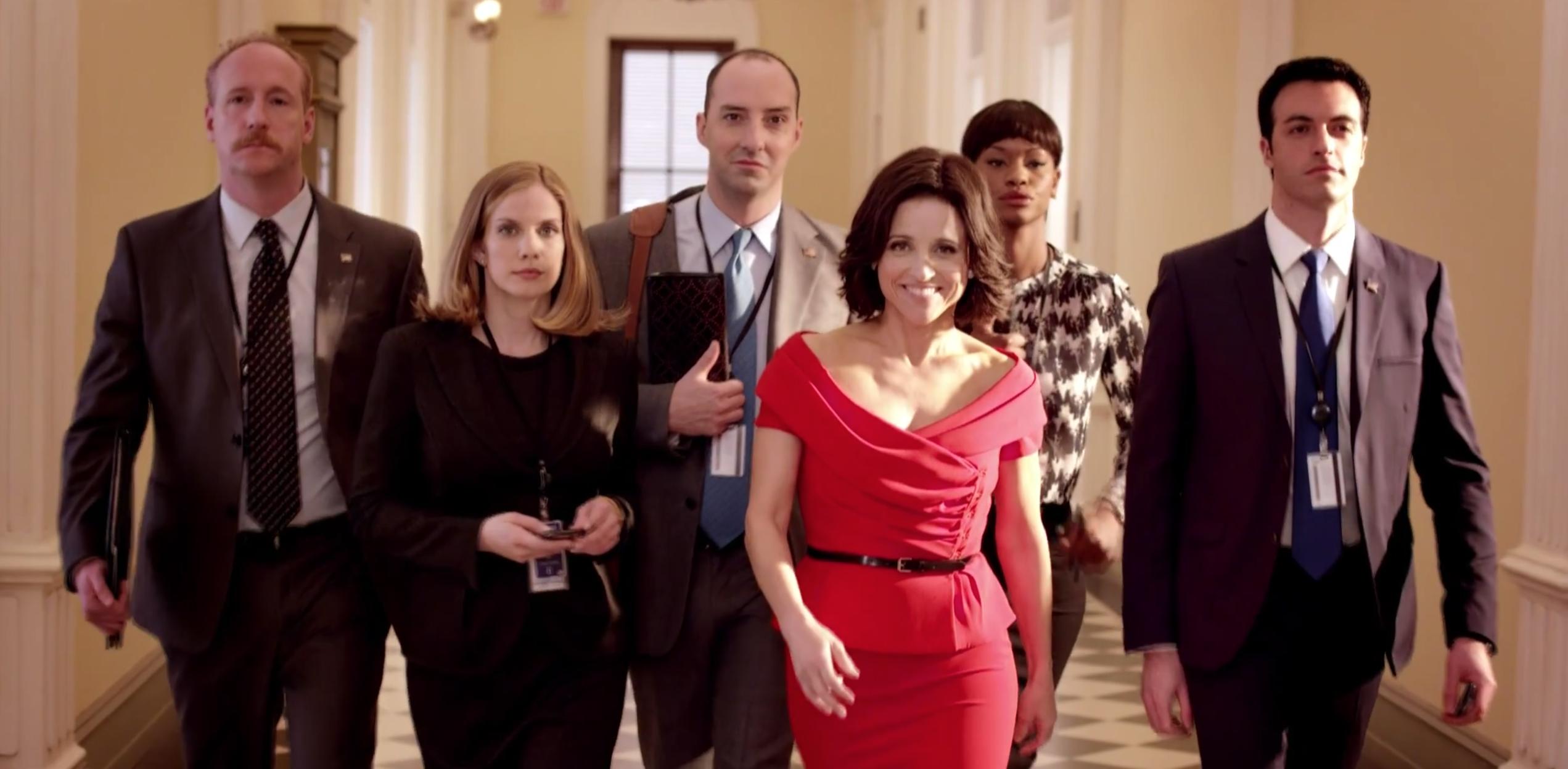 Screenshot of the main cast of Veep