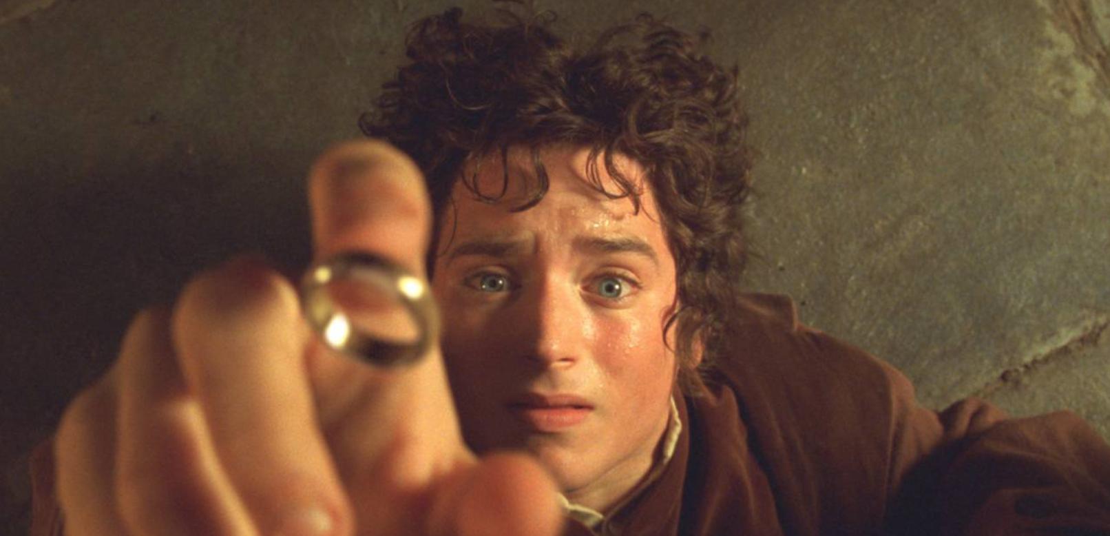 Screenshot of Frodo reaching for the Ring