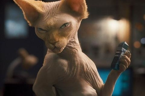 A hairless Sphynx cat from <i>Cats &amp; Dogs: The Revenge of Kitty Galore</i>