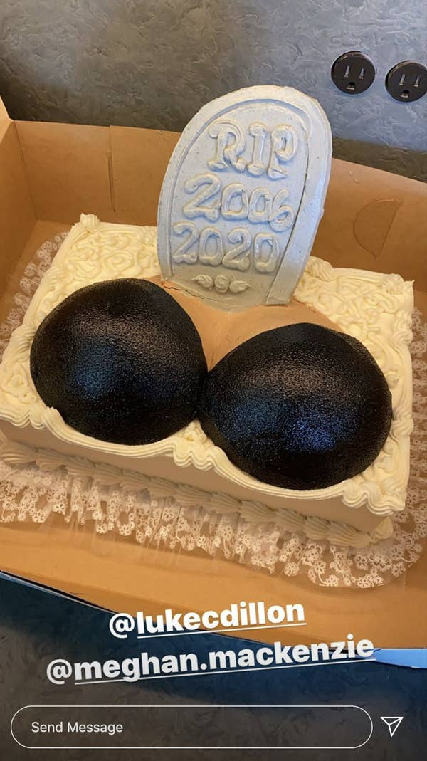 """chrissy teigen celebrates her breast implant removal with the most hilarious cake her friends gave her 