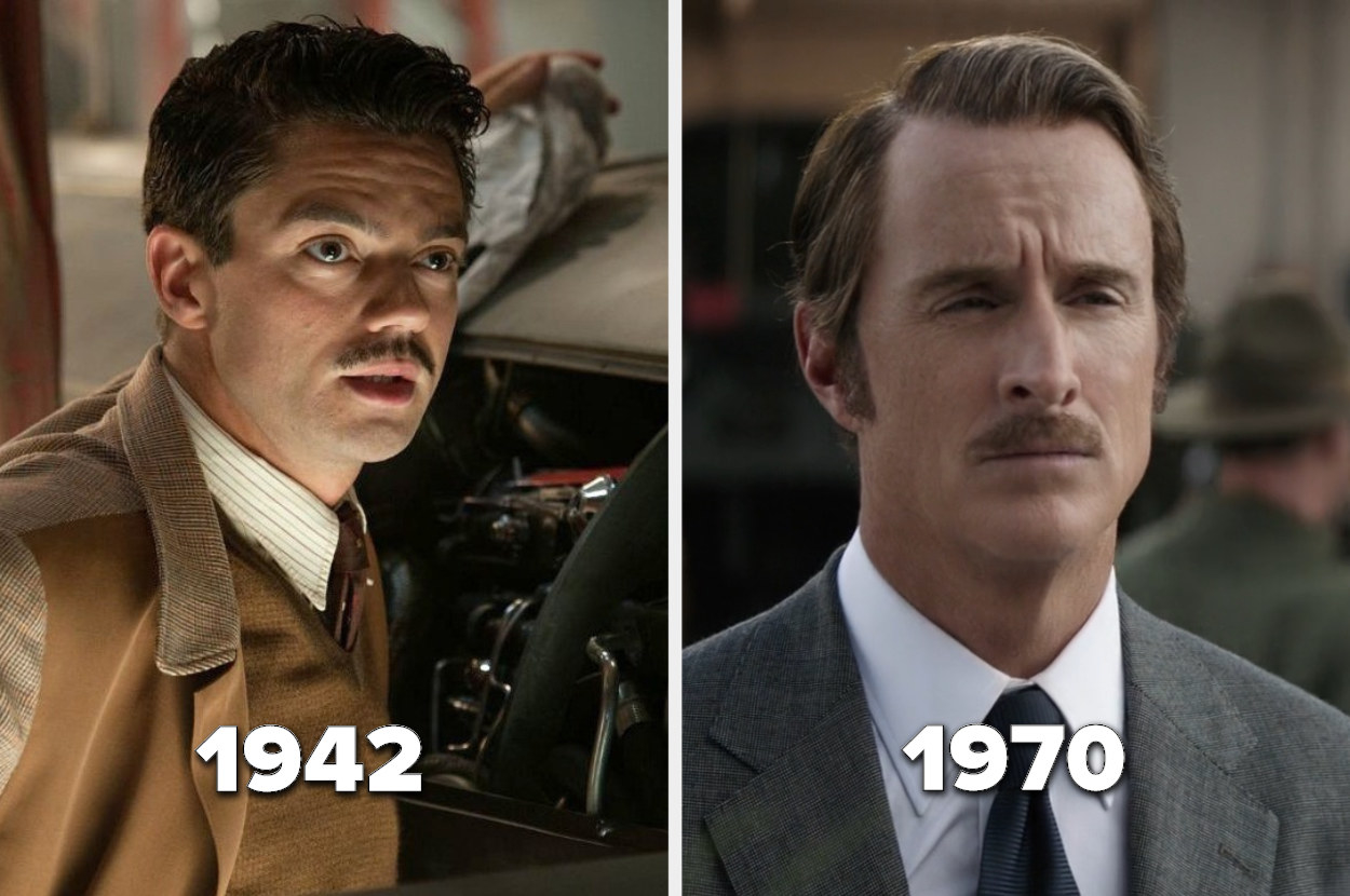 Howard Stark in 1942 and not much older in 1970