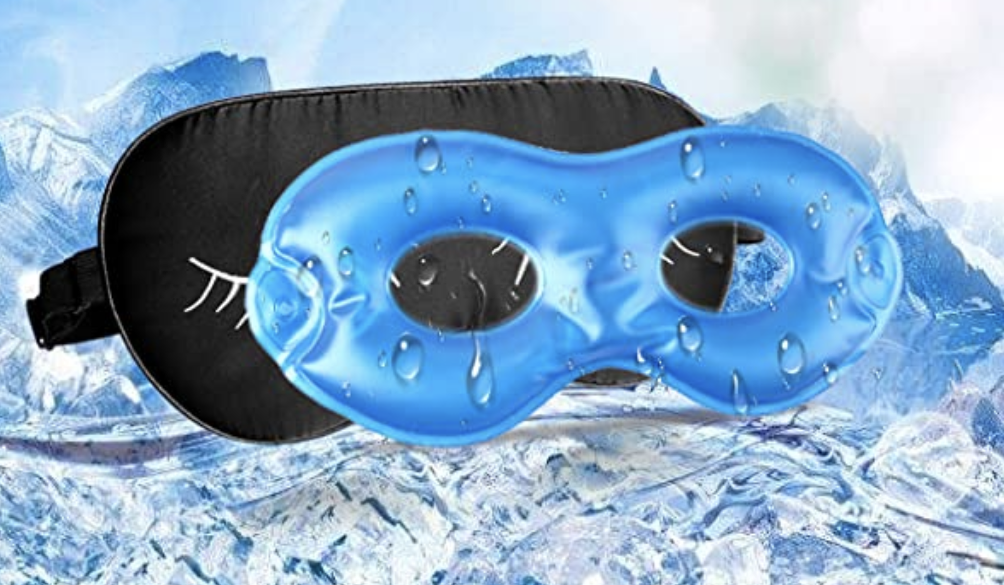 A gel mask and a fabric mask you can slide it into