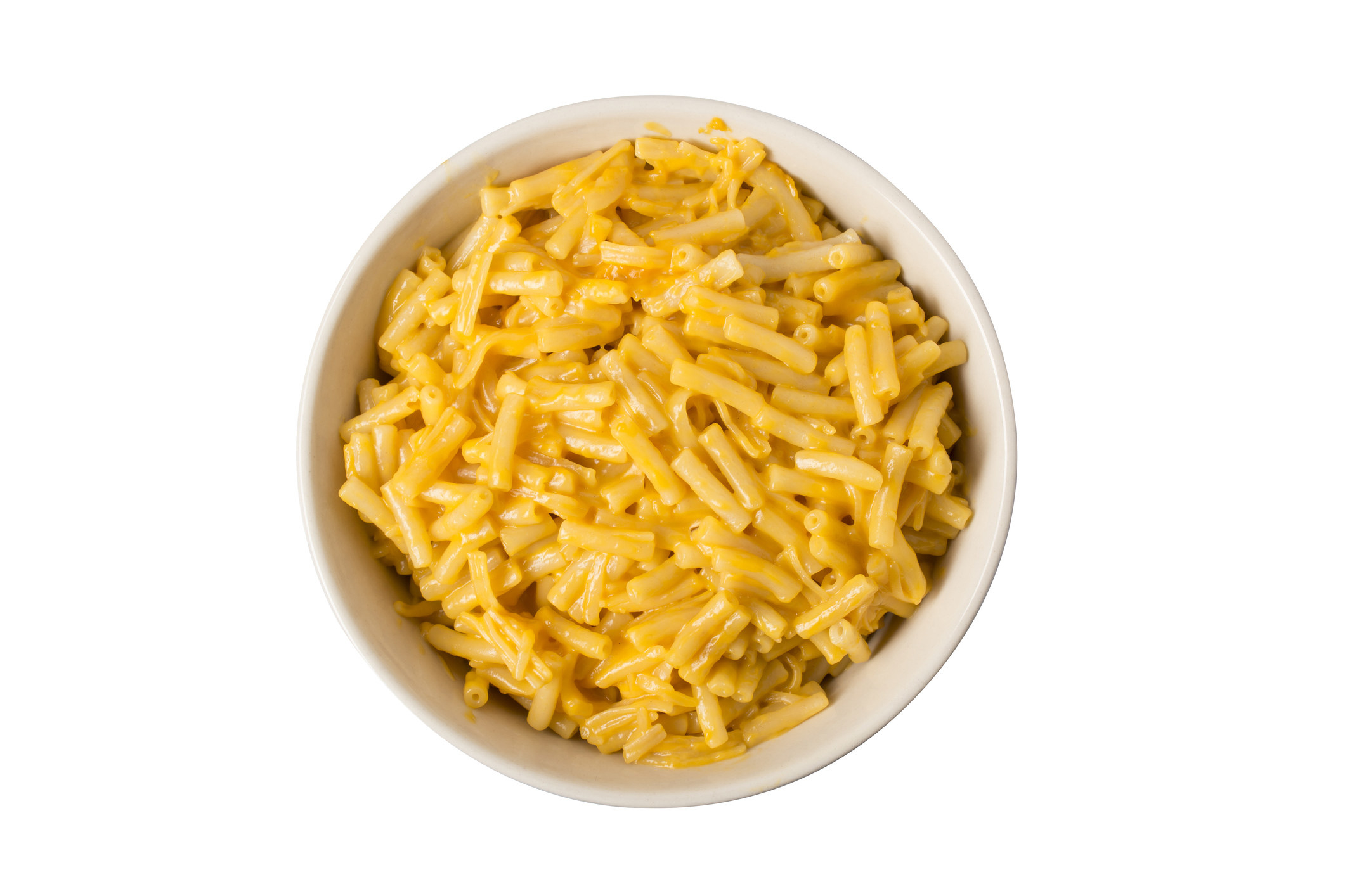 A bowl of boxed mac 'n' cheese.
