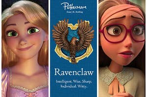 Rapunzel from Tangled, the Ravenclaw logo, and Honey Lemon from Big Hero 6