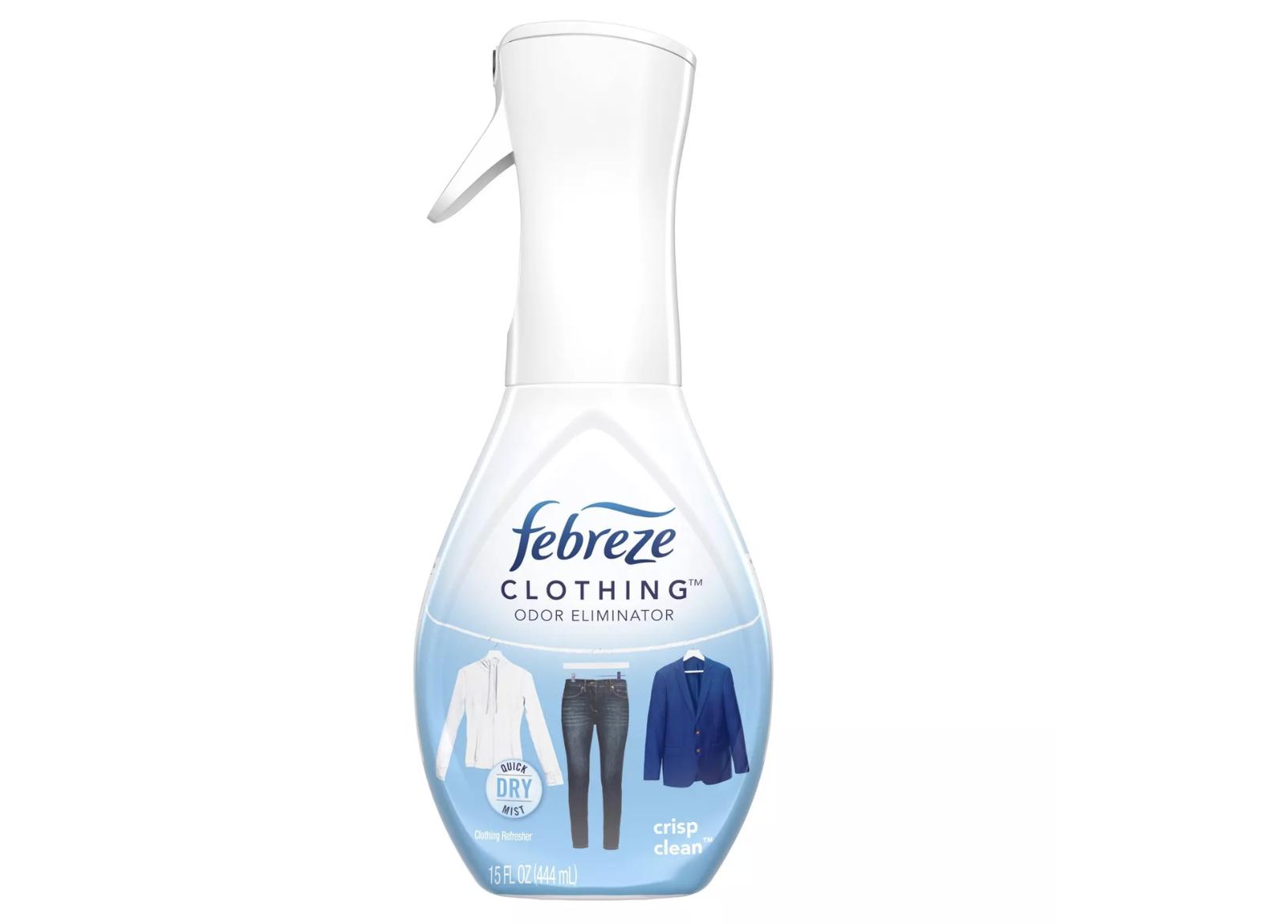 Febreze clothing odor eliminator