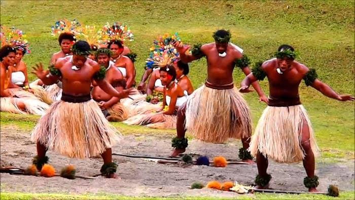 Fiji fire walking ceremony