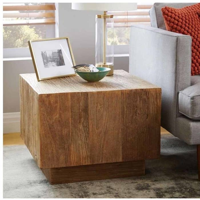 Square Side Table, Mango Wood