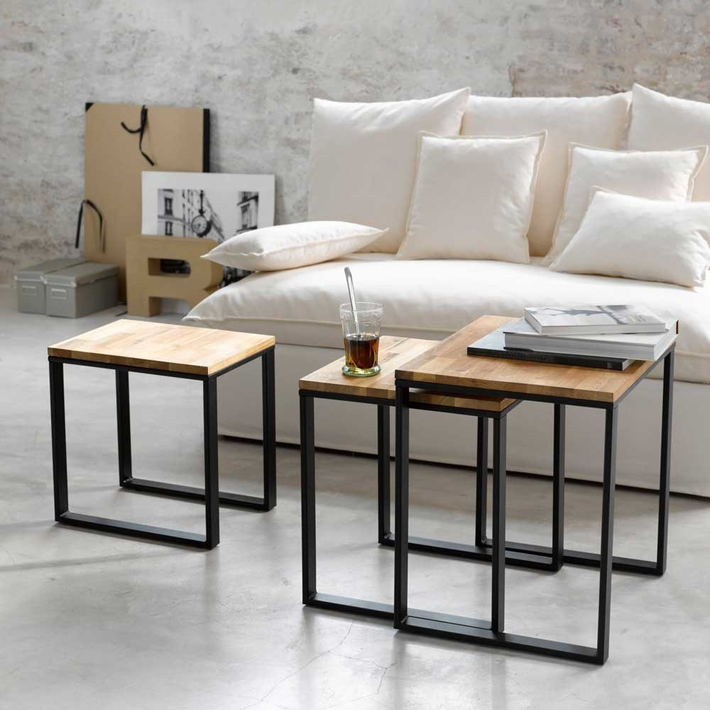 Industrial style Nest Tables, Mango Wood