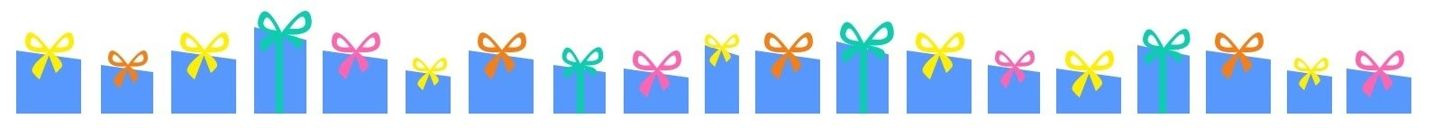Illustrated blue gift-boxes