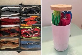 鞋托和Q-tip支架并排
