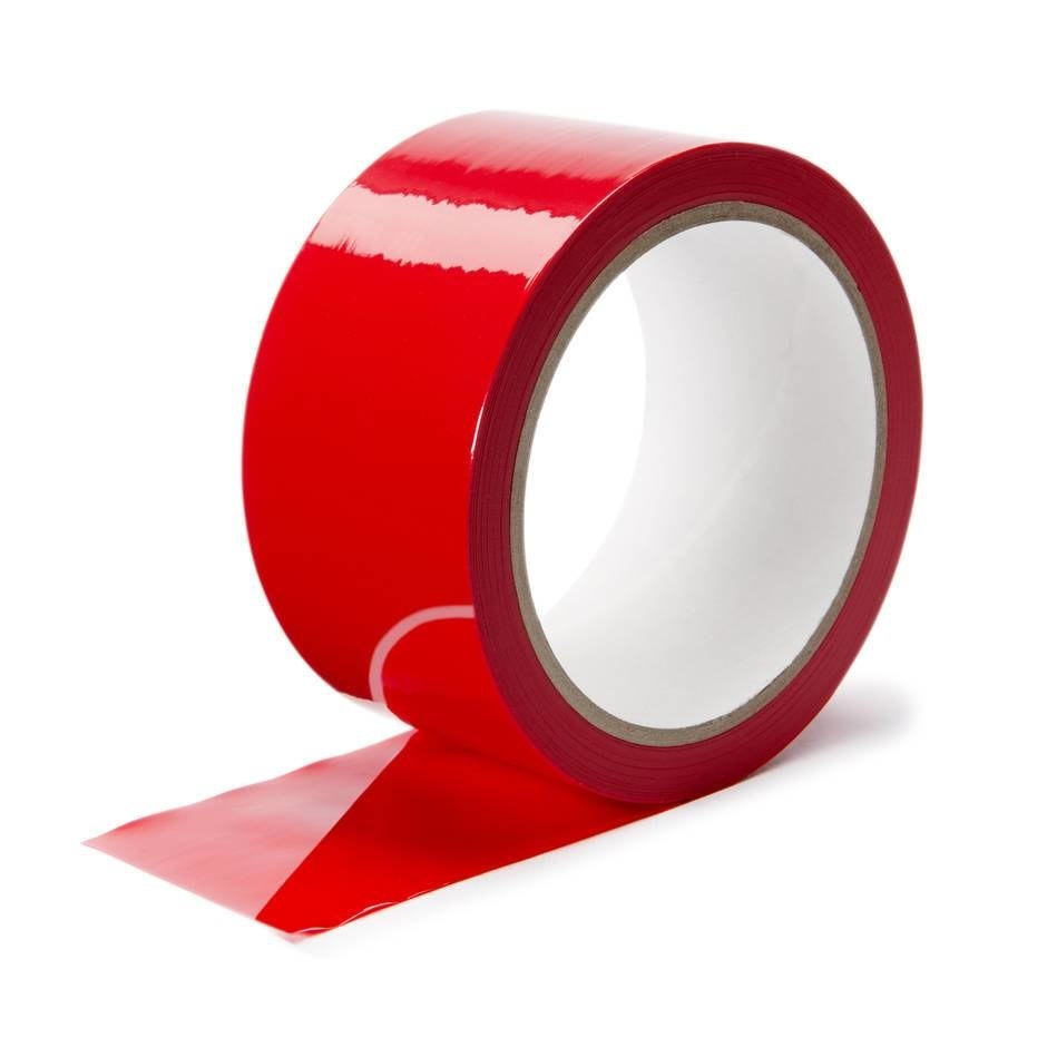 roll of red glossy tape
