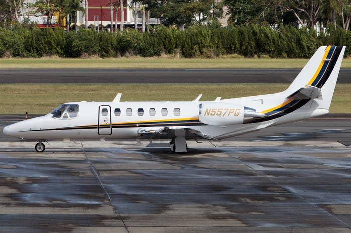 The FBI's Cessna Citation jet.