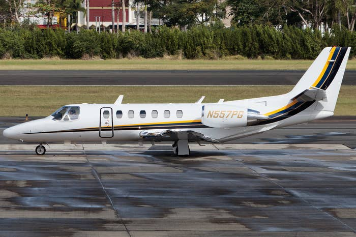 The FBI's Cessna Citation jet.