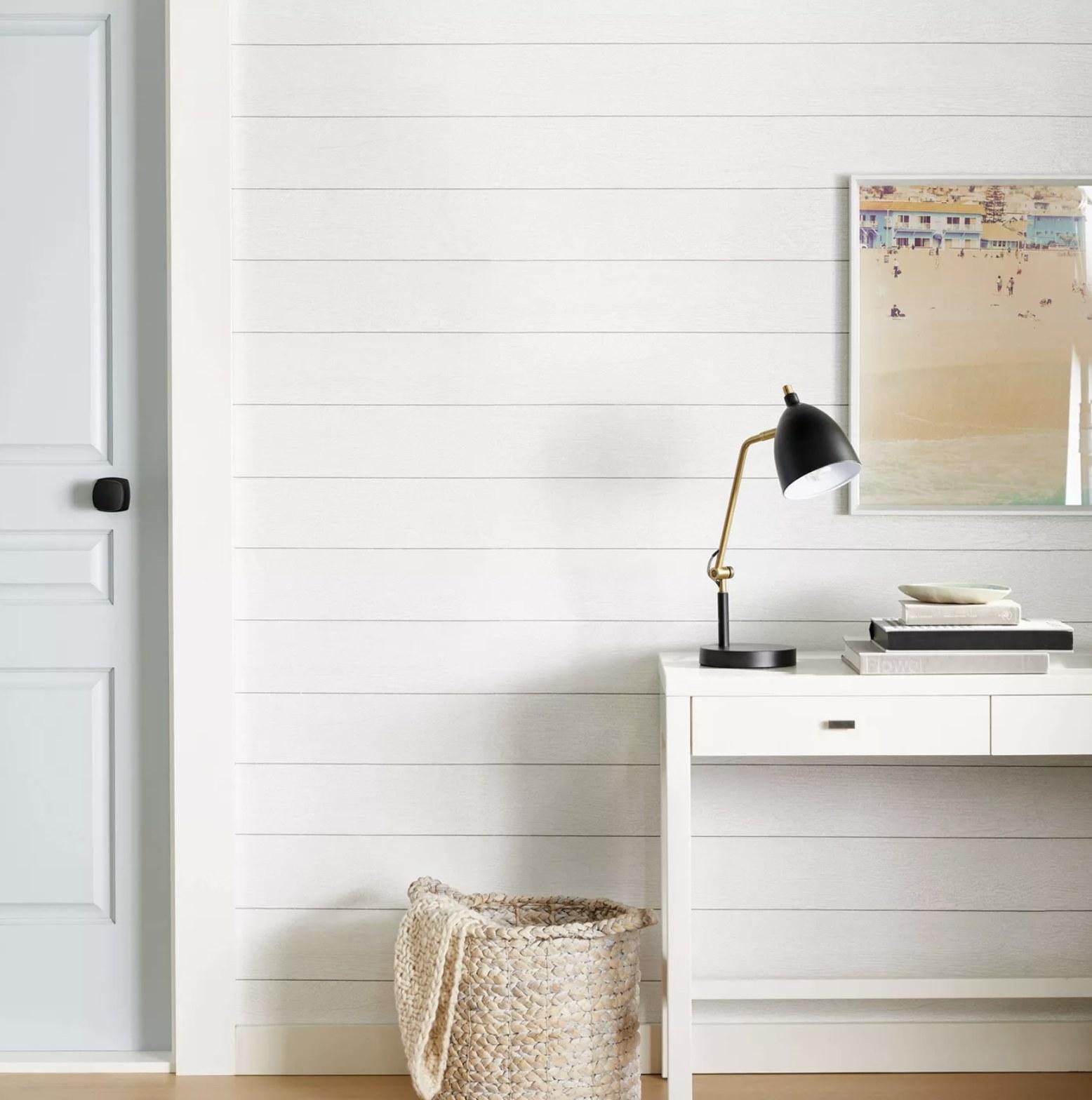 Wallpaper that looks like white paneling