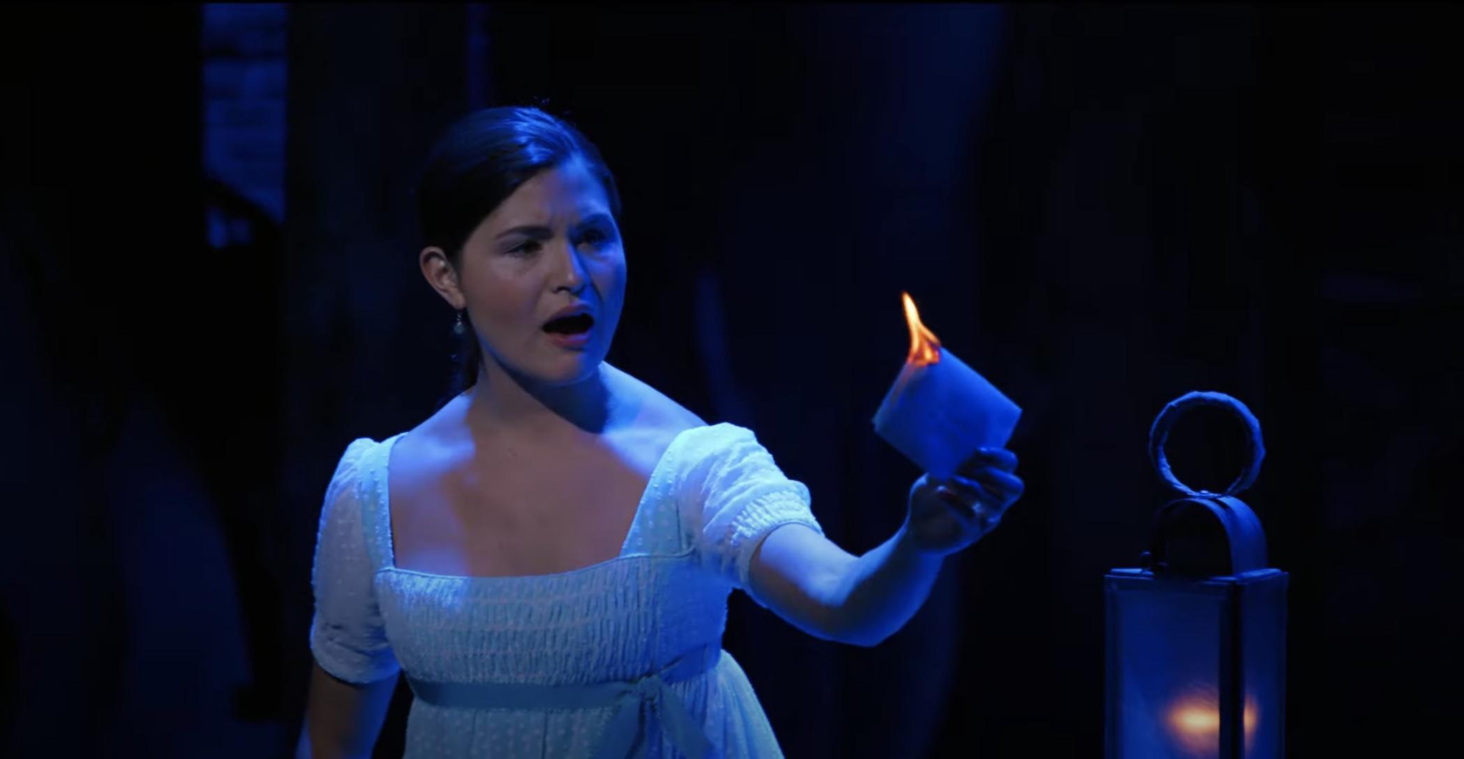 """Phillipa Soo as Eliza Schuyler performing """"Burn"""" in Hamilton"""