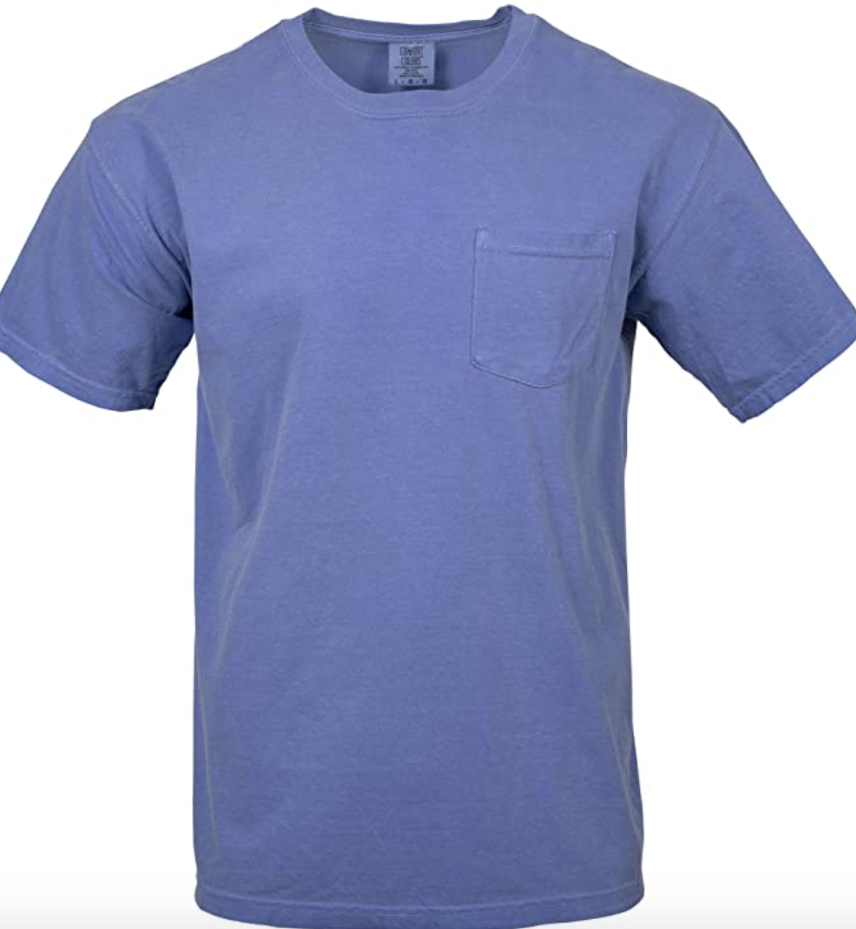 A blue cotton t-shirt