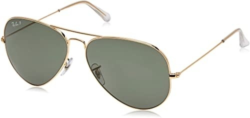 The aviator sunglasses sitting on a table