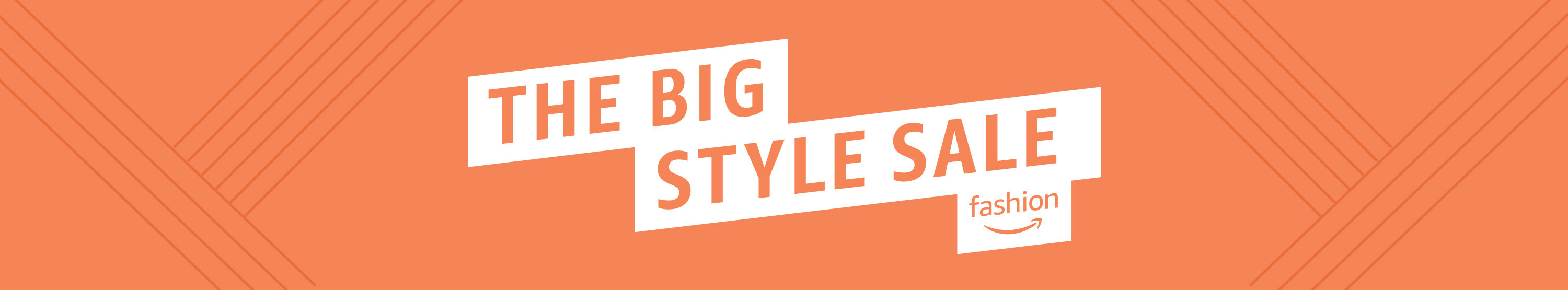 """The Big Style Sale"" on an orange background"