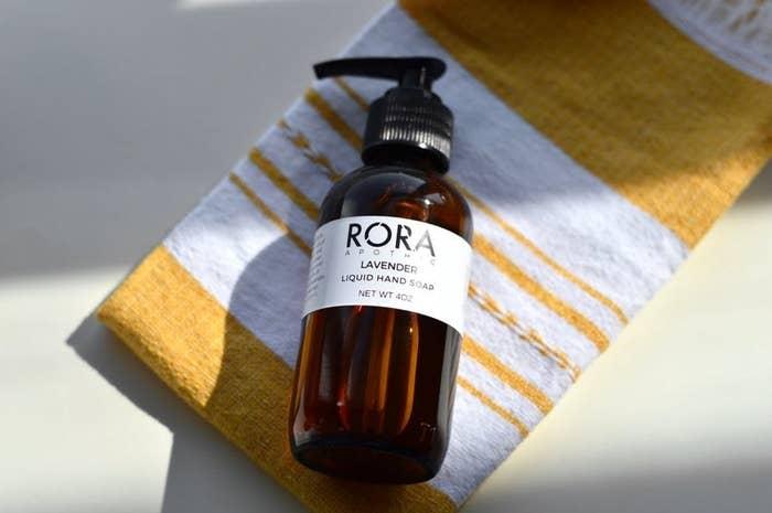 Lavender liquid hand soap from Rora Apothic