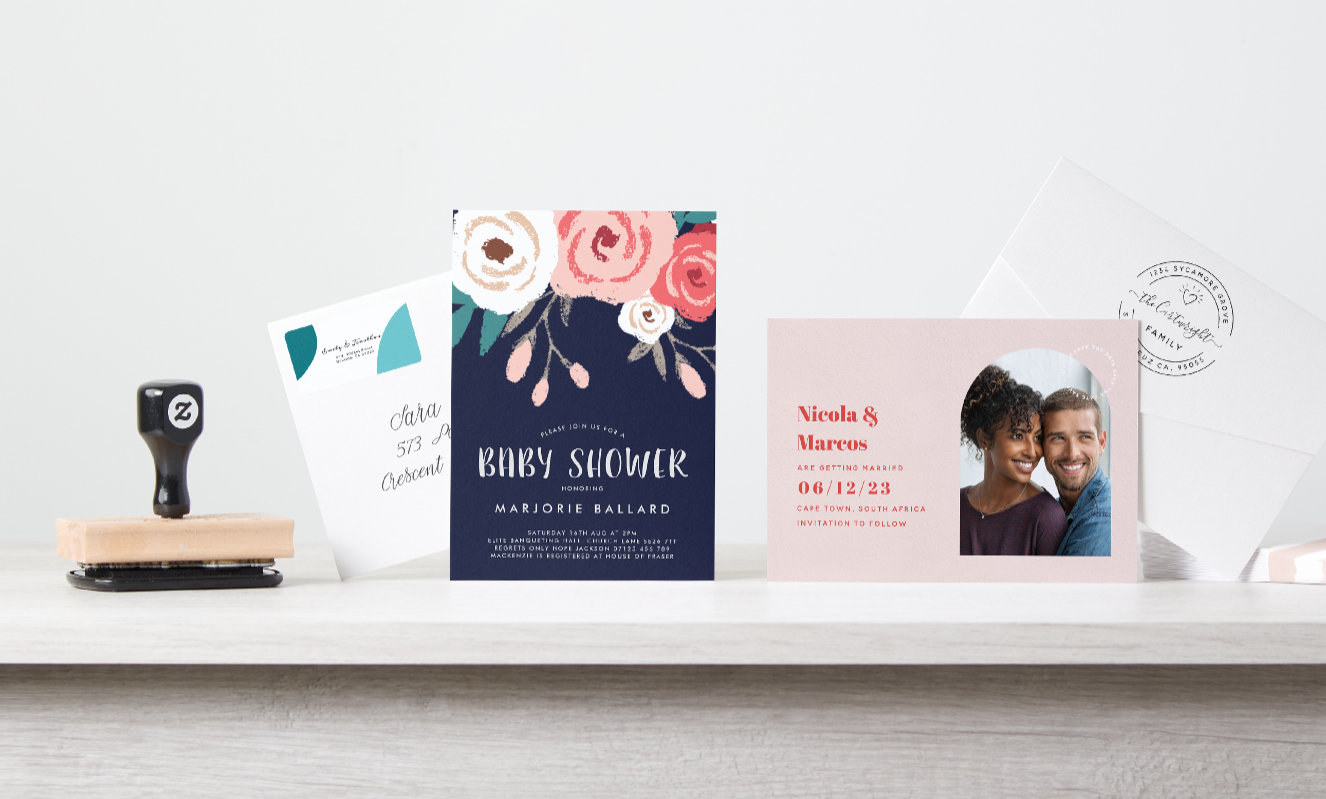 An assortment of cards and invitations