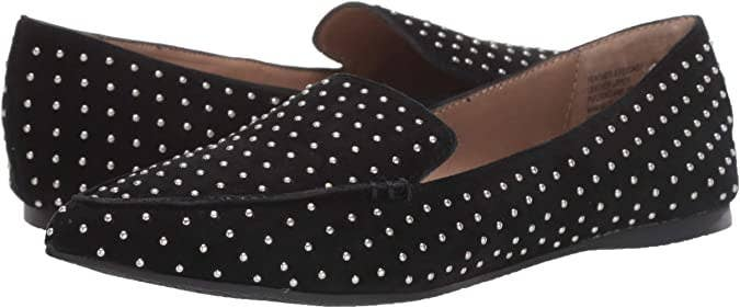 A pair of loafers with micro dot detailing
