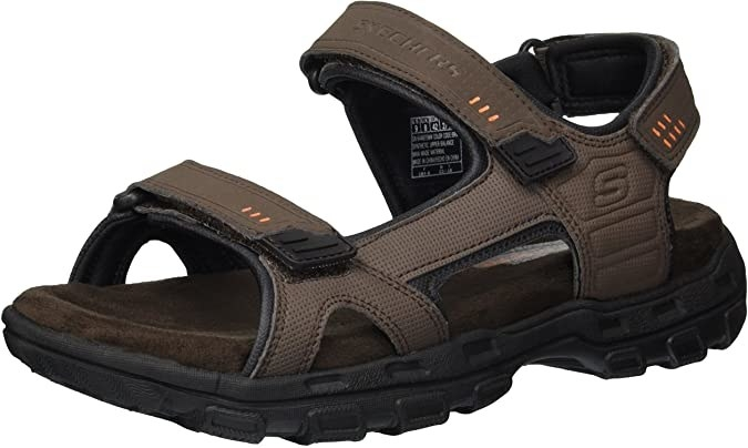 Utility sandals with two velcro closures