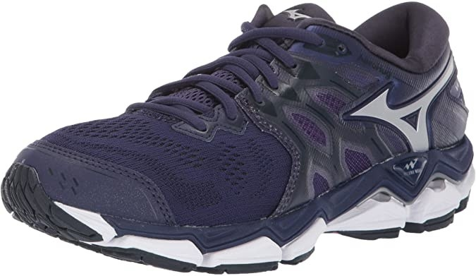A running shoe with matching laces