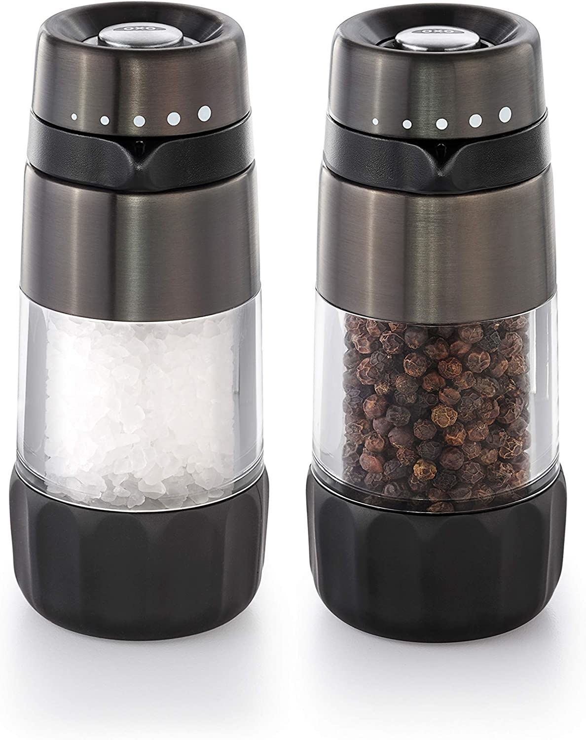 the stainless steel refillable salt and pepper shakers