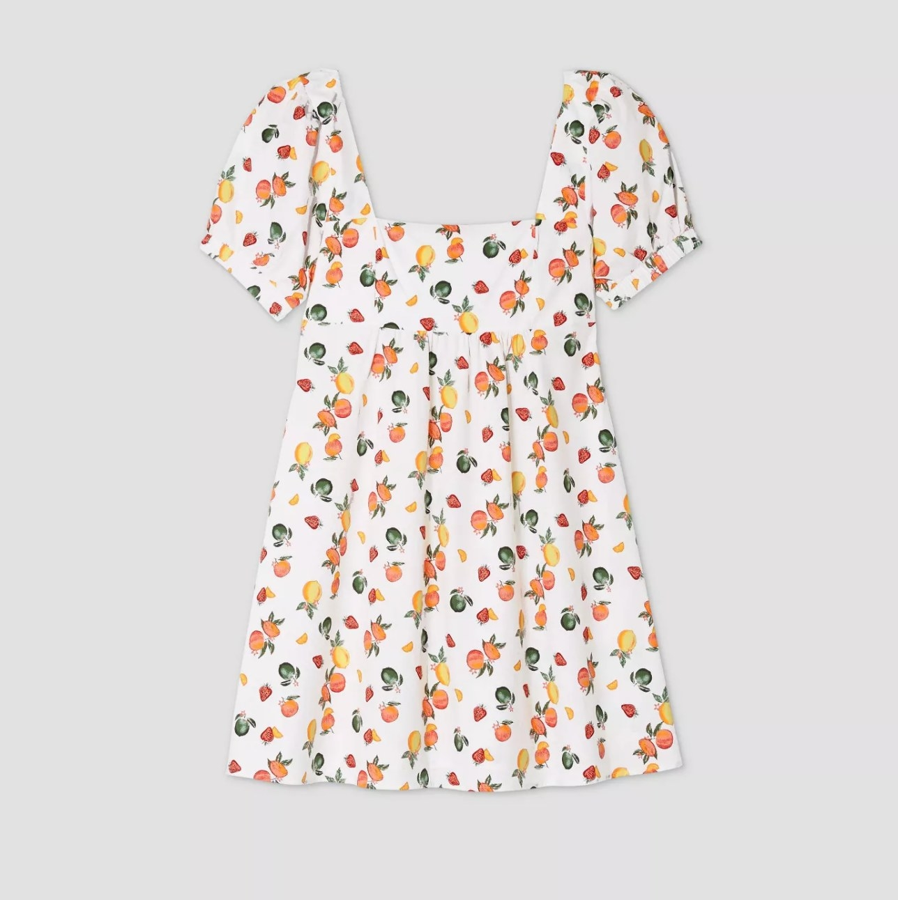 The fruit-printed dress