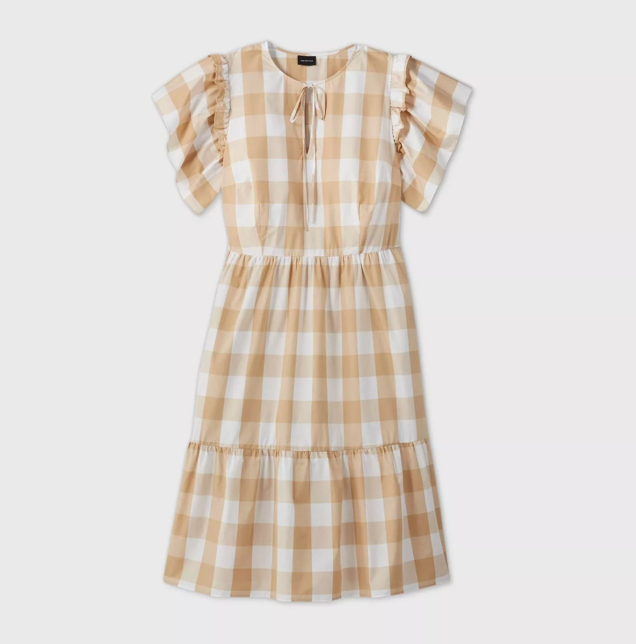 The dress in cream gingham print