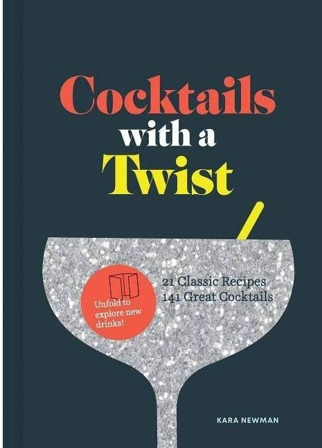 The cover of the book with an illustration of a cocktail glass