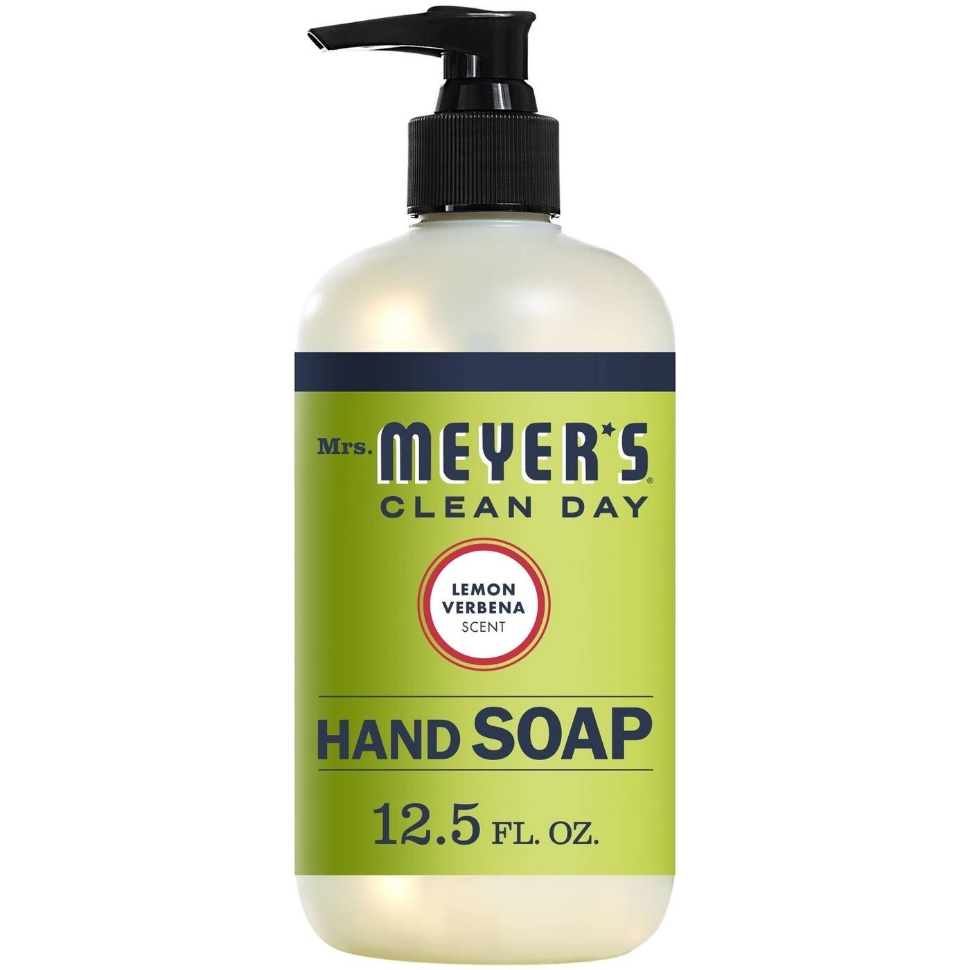 A lime green soap pump