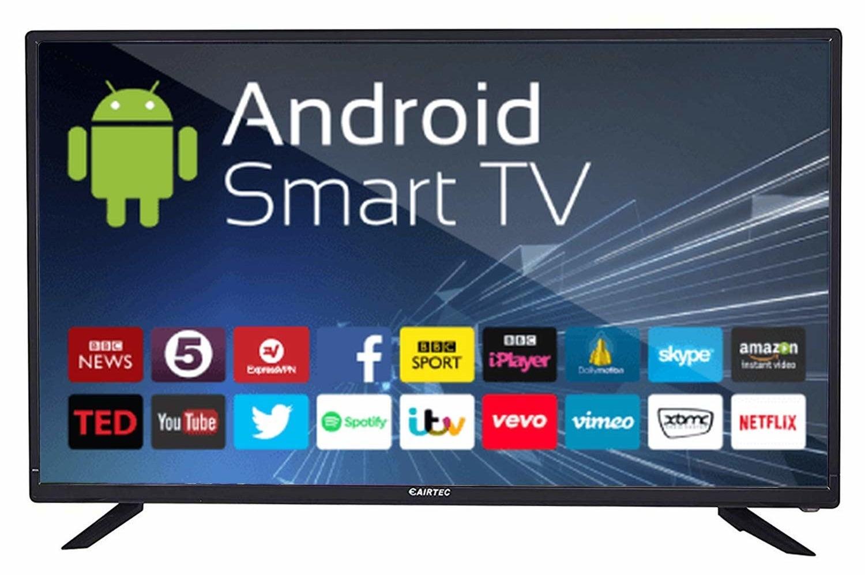 An eAirtec HD Ready Smart LED TV in black.