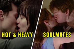 Two couples kissing, one of the couples being a one-stand and the other couple being soulmates