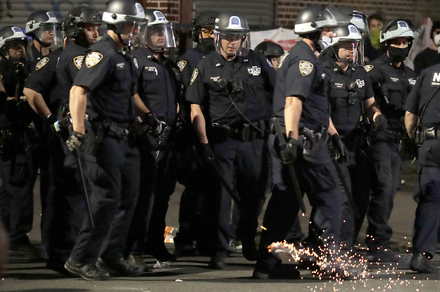 People In Brooklyn Were Setting Off Fireworks. Then Police Showed Up In Riot Gear.