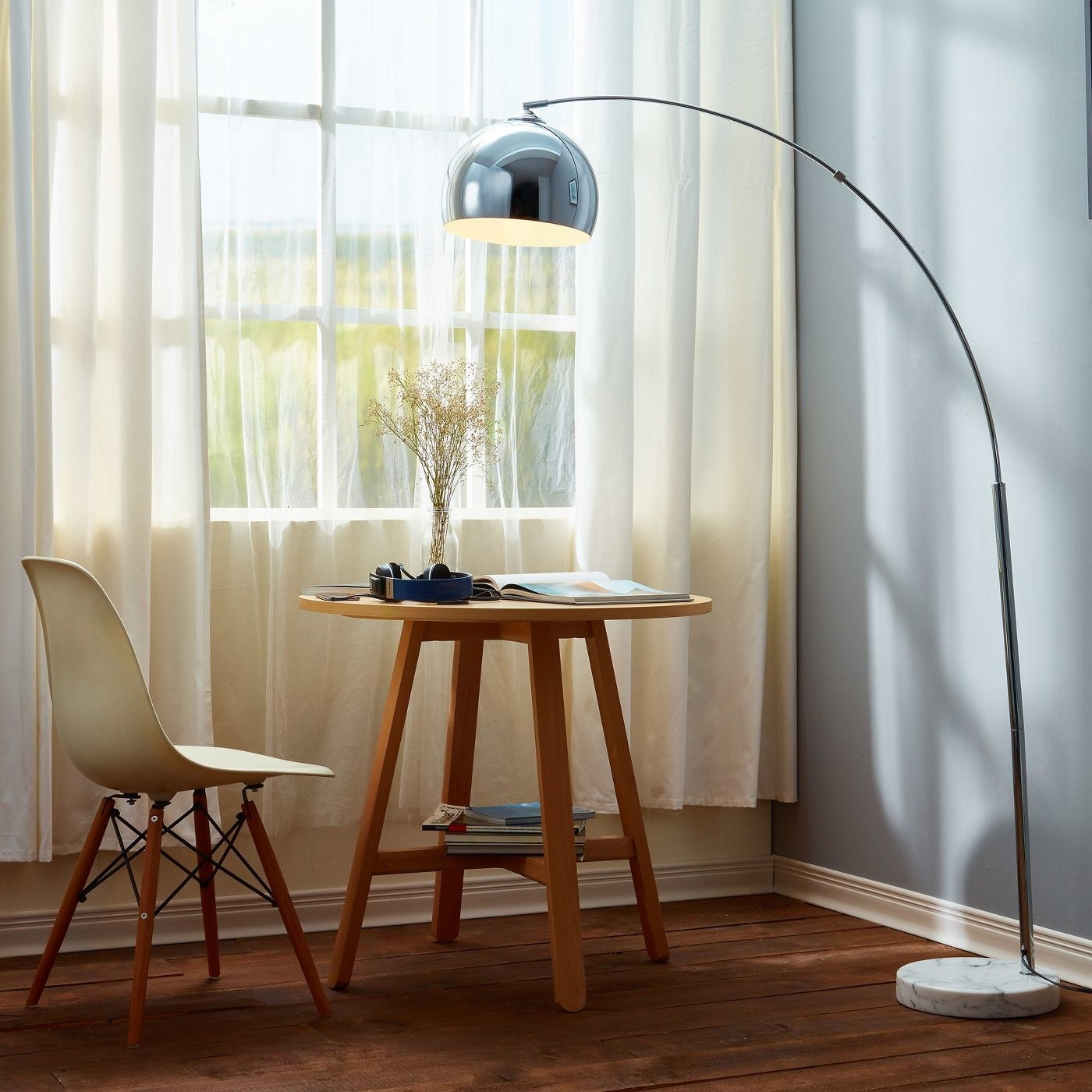 floor lamp with white marble base