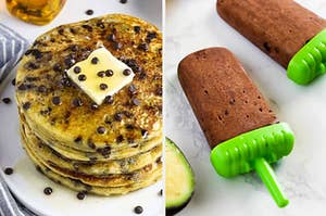 Chocolate Chip Pancakes and Fudge Pops