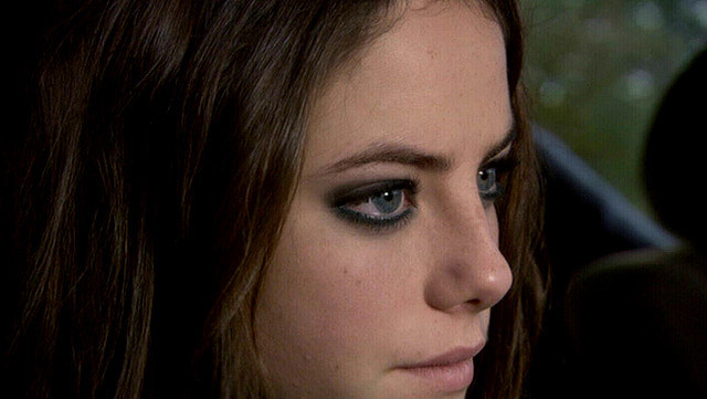 Effy with black liner blended into black shadow in her crease
