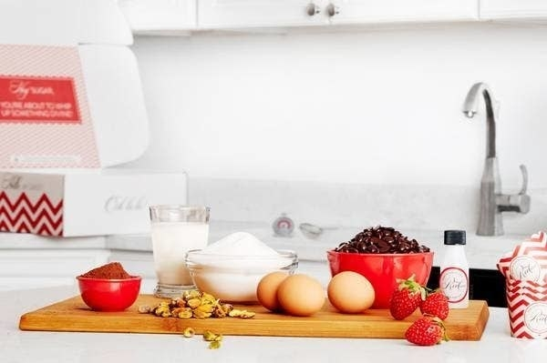 Ingredients for a baking recipe